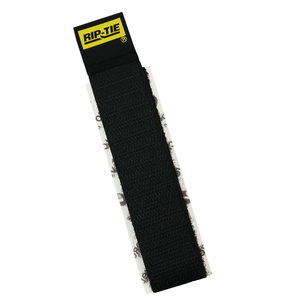 VL-CC1-04BK-05: 4 inch Rip-Tie CableCatch Adhesive Back Wrap - Black - Pack of 5