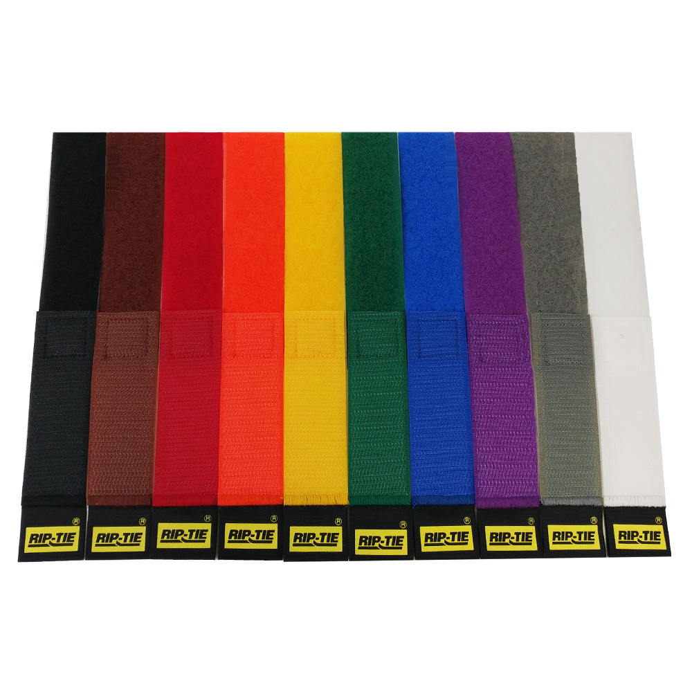 VL-CS1-06RB-10: 6 inch by 1 inch Rip-Tie CableWrap Strap - Rainbow - Pack of 10