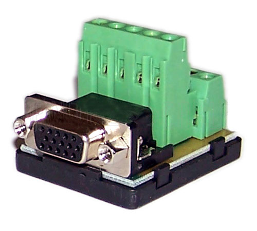 WPIN-VGAF: VGA female screw terminal connector