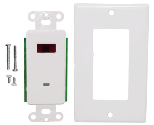 WPK-IR1: IR Dual Band Decora Wall Plate Receiver (12V DC 30mA) - White
