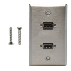 WPK-SDP2: 2-Port DisplayPort Wall Plate Kit - Stainless Steel