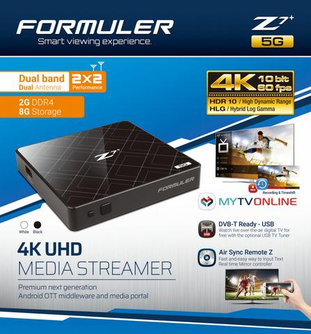 Formuler Z7+ 5G: Formuler Z7+ 5G DUAL BAND WIFI Plus 4K IPTV Quad Core 2GB DDR4
