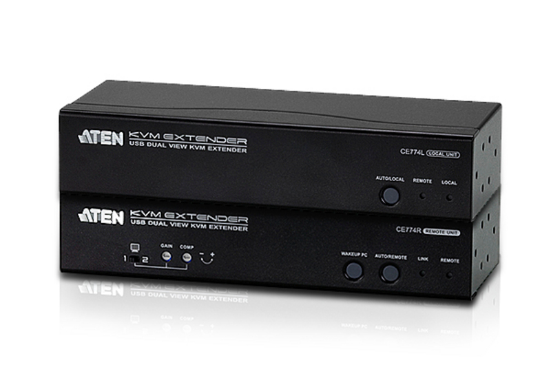 ATEN CE774: VGA dual view KVM extender with Audio