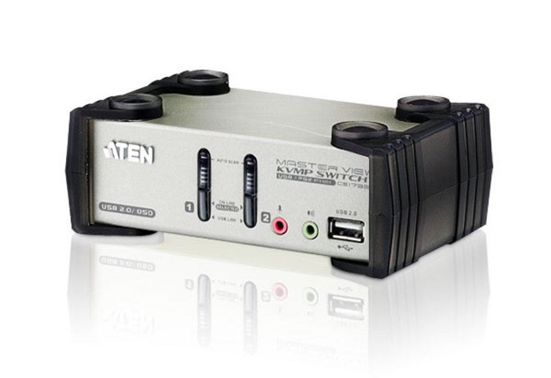 ATEN CS1732B: 2-Port USB 2.0 KVM Switch with OSD