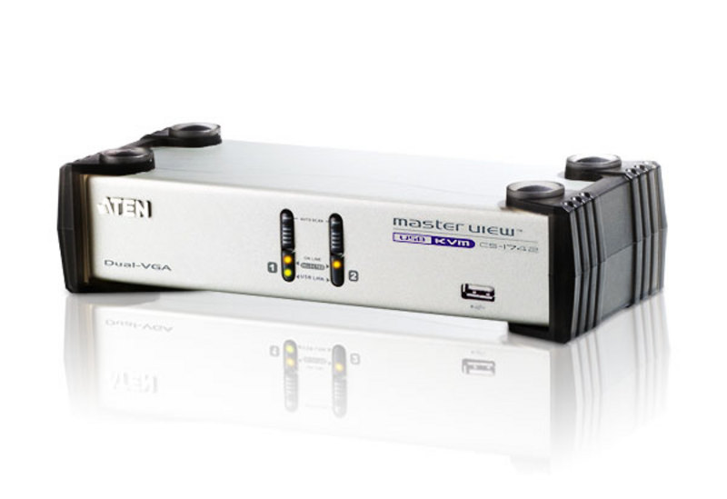ATEN CS1742: 2-Port USB Dual-View KVMP Switch