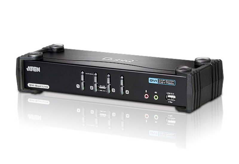 ATEN CS1784A: 4-Port USB DVI Dual Link KVMP™ Switch