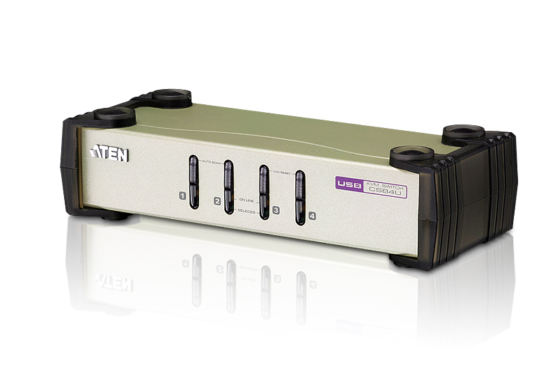 ATEN CS84U: 4-Port PS/2-USB KVM Switch