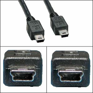 MIUSBMIUSB-3: 3 foot USB 2.0 Mini-B 5-pin to Mini-B 5-pin cabl