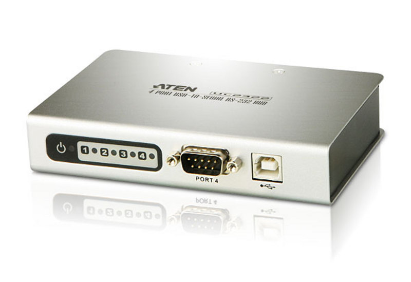 ATEN UC2324: 4-Port USB-to -Serial RS-232 Hub