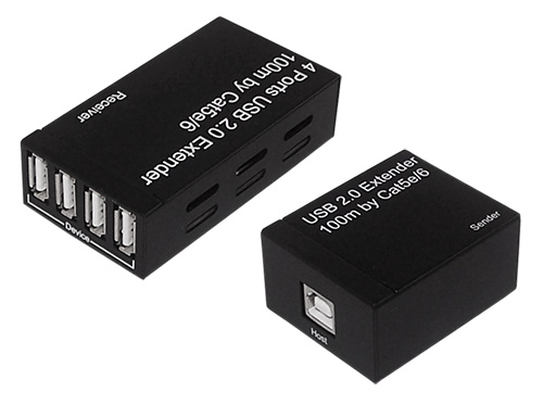 usb20ex100:USB 2.0 Extender Over Cat 5e / Cat 6 (100M)