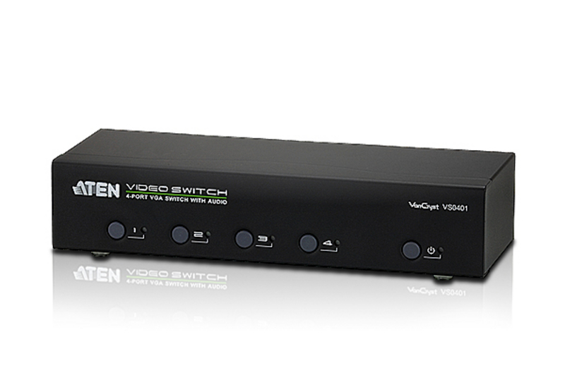 ATEN VS0401: 4-Port VGA/Audio Switch w/RS232