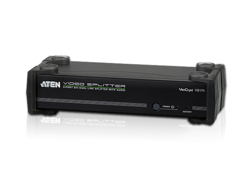 ATEN VS174: 4-Port DVI Dual Link Splitter with Audio